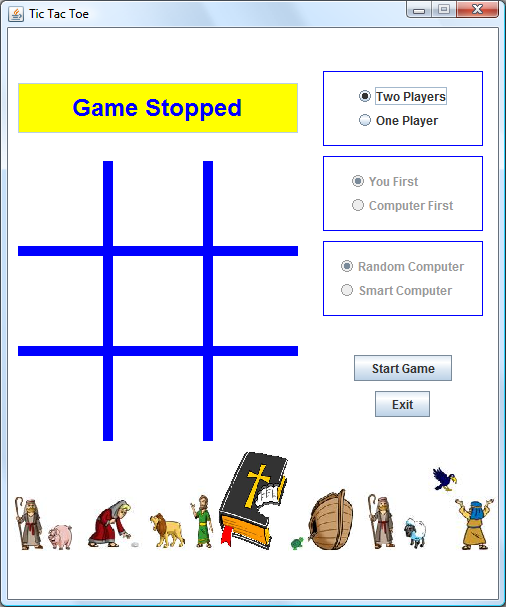 Computer Bible Games with Java Completed Project Screen