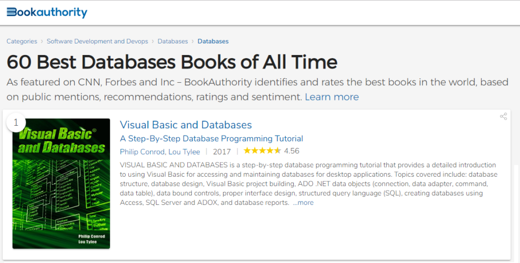 VISUAL BASIC AND DATABASES - 2019 EDITION - Kidware Software